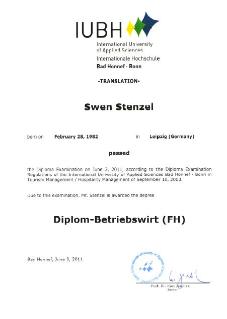 Dipl. Betriebswirt (FH) Bad Honnef